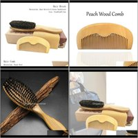 Pinceles Cuidado Herramientas de estilo Productos Drop Entrega 2021 Set al por mayor proveedor Boar Bristle Brush Peine de madera Peine De Detenguina Rizado Hair 74LP
