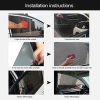 4 adet / takım Araba Güneşlik UV Ön Arka Pencere Filmi Cam Visor Kapak Güneş Gölge Perde Çıkartmalar