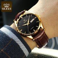 디자이너 럭셔리 브랜드 시계 OLEVS 남자의 ES 클래식 기계 가죽 자동 비즈니스 방수 시계 남자 6629