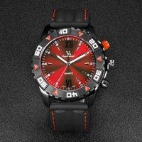 Relógios de pulso V6 Moda Homens Assista Pu Banda Racing Relógios Casuais Esporte Quartz Homem Relocharia Relojes de Hombre 2021