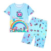 Fashion Summer children's clothing cartoon kids set boutique Character suit casual outfit retail Clearance For girl and boy