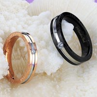 Cluster Rings Cyue Exquisite Pave CZ Fashion Creative Stainless Steel Titanium Couple Ring For Women Men Jewelry