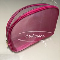 21x14x5cm Mode Rosa Mesh Reißverschluss Taschen Elegante Schönheit Kosmetiktasche Gedruckt C Schreibwaren Aufbewahrungskoffer Klassische Büro Bleistift Pinsel Tasche VIP Geschenk
