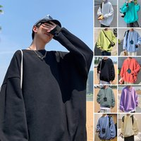 Hoodies Perth Student Round Neck Pullover Sweater Casual Loose Large Sports Bottoming Shirt Autumn Men's and Women's Long Sleeve T-shirt