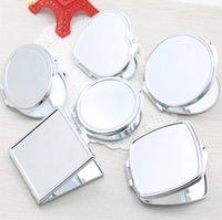 Miroir Mini Miroir Portable Compact Compact Pliant maquillage Miroir Moyenne de maquillage Cosmétique en forme de coeur Personnalisé