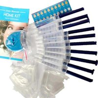 6 10PCS Peroxide Gel Kit New Cold Light Beauty Dental Equipment Bright White Smile Teeth Whitening With LED