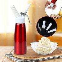 500ml Metall N2O Dispenser Creme Whipper Kaffee Dessert Saucen Eiskutter Peitsche Aluminium Edelstahl Schlag Frische Sahne Foam Maker FWF6669