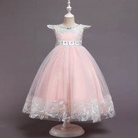 Girl's Dresses Baby Girls Dress Kids Clothes Child Lace Long Princess Pettiskirt Party Formal Birthday B5446