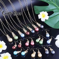 Earrings & Necklace Cring Coco Wholesale Set Women Colorful Pearl Jewellery 2021Trend Hawaiian Jewelry Sets Accesories For