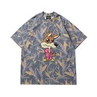 Mens Desighner T-shirt Drew House Heaven Bird Camouflage Big Bad Lupo Stampa Justin Bieber High Street Manica Corta T-Shirt Top Casual