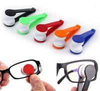 Mini óculos de sol limpador de óculos de limpeza ferramenta Favor Favor Microfiber Escova ABS Eyewear Limpo OWF8520