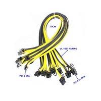 PCI-E 6 PIN CARTA MASCHIO ALLA GRAFICA GPU 8 PIN 6 + 2 PIN Power-cable 18Awg 70cm per PSU Alimentazione Breakout Board
