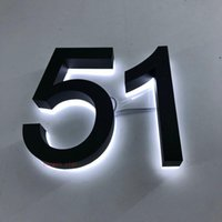 Custom 3D retroiluminado de acero inoxidable de acero inoxidable número con señales de la casa Otro puerto Hardware