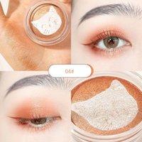 1pc Animal Embossed Face Blush Palette Korean Eyeshadow Makeup Waterproof Orange Peach Cream Contour Pigment Red Cheek Tint TSLM1