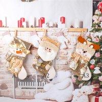 Noel Çorap Altın Pullu Çorap Noel Baba Şeker Çorap Noel Ağacı Kolye Çocuk Hediye Çantası Festivali Parti Malzemeleri HWD10288
