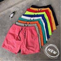Erkek Katı Renkler Plaj Şort Moda Trend Şeker Renkleri İpli Şort Mayo Yaz Erkek Yeni Rahat Spor Iç Çamaşırı Kurulu Şort