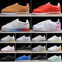 Nike Classic Cortez Leather 2021 Классический незнакомец Вещи Форрест Пышащие Обувь Кожаная Старция Pren Нейлон Черный Белый Красный Старинные Мужские кроссовки