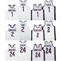 NCAA Gonzaga Bulldogs College Basketball 2 Draw Timme Jersey University 24 Corey Kispert 1 Jalen SS Дышащая команда белого цвета