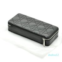 ماكياج منظم تخزين حقيبة تخزين مربع AC403 الأزياء vip هدية براءات الاختراع الجلود الأسود مبطن الموضوع حقيبة مستحضرات التجميل حقيبة يد المحمولة