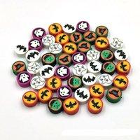 1000pcs / lot 10mm Polymer Argilla perline di Halloween Tema Stampa per gioielli Making fai da te collana braccialetto accensione personalizzata