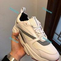 Bambini Designer Designer Donna Sneakers Scarpe Casual Scarpe Casual Pelle Vitello Sneaker Top Technical Knit Donna Piattaforma Sport Scarpa Blu Grey Trainer