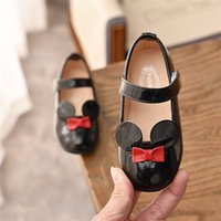JGSHOWKITO Baby Girl Soft Shoes PU Patent Leather Flats For Girls Kids Little Children Casual Flats Size 21-30 Brand Shoes Cute 210902
