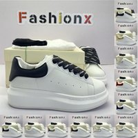 [Box]Alexander McQueen Sneaker All White McQueen designer fashion luxury espadrille flat flats alexander mcqueens men mcqueen sneaker men women platform shoes baskets sneakers