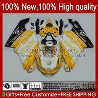 Corpo de Motocicleta para Ducati 749s Amarelo Preto 999s 749 999 749-999 03 04 05 06 Bodywork 27No.47 749 999 s R 2003-2006 Cowling 749R 999R 2003 2004 2005 2006 Kit de Feira do OEM