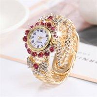 패션 크리스탈 bowknot 디자인 시계 가장 열렬한 전체 합금 여성 다이아몬드 체인 팔찌 아날로그 캐주얼 손목 시계 선물 몽트르 femme 시계