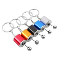 2021 Gear Knob Shift Stick Box Metal Keychain Keyfob Key rings Fidget Spinner Gearbox Mini Zinc Alloy Car Truck fast ship