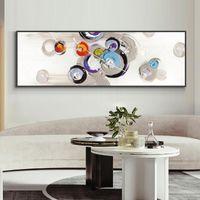Pintura geométrica minimalista abstracta 100% pintada a mano Pintura al óleo sobre lienzo Paisaje Arte de la pared para la decoración del hogar