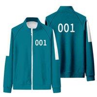 오징어 게임 Mens Tracksuits 패션 번호 456 자켓 조깅 가을 두 조각 실행 스포츠웨어 유니섹스 도매