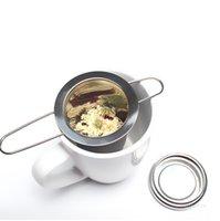 Teas Tools Reusable Stainless Steel Tea Strainer Infuser Filter Basket Folding Tea Infuser Basket Tea Strainer For Teapot ZC255