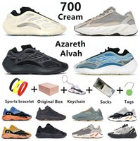 Yeezy 700 v2 크림 카니 예 웨스트 남성 운동화 V3 MNVN Azareth Azael Alvah Static Vanta Utility Black bone Phosphor Tephra Salt sun men women trainers sports sneakers with box