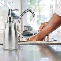 Hohe qualität manuelle flüssige seifenspender edelstahl rost lecken beweise küche badezimmer zubehör pumpe