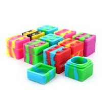 11ML square design silicone Storage Boxes Non-stick jars dabs containers for wax container smoking accessories RH5530