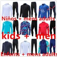 2122 Fotboll Tracksuit Tracksuits Fotbollsträningspassar Kit 21 22 Chandal Futbol Kids Men Boys Mens Jacket Tuta Set Set Jersey Jerseys Sportkläder