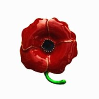 Pins, Brooches Fashion Brooch Pins Zinc Alloy Red Crystal Rhinestone Poppy And For Remembrance Day