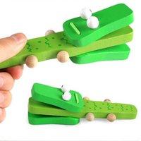 Pedagogiska leksaker för barn Söt Castanets Musical Instrument Kids Trä leksak Clapper Handle Baby Development Music Gift