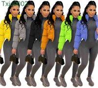 Women Winter Bubble Coats Designer Warm Down Jacket Cotton Windbreaker Duck Down Puffer Coat Solid Colour Zipper Ladies Casual Clothing