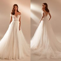 Milla Nova Boho Wedding Dresses Bridal Gowns 2021 Beaded Short Sleeve Sexy Princess Vestido Brides Dress Robe De Mariage