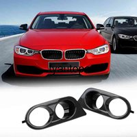Surround Air Duct 1 Pair For BMW E46 M3 2001-2006 Front Bumper Dual Hole Car Fog Light Covers Plastic
