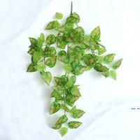 الحرير الأخضر الاصطناعي شنقا ورقة حديقة ديكورات 8 أنماط غارلاند النباتات كرمة القيقب العنب أوراق DIY HWE6002