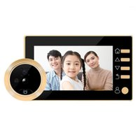 4.3-Zoll-Türklingel-Viewer-Digital-Tür-Peephol-Kamera 1MP drahtloses Video IR-Nachtsicht-Bewegungssensor1