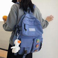 다중 포켓 방수 나일론 여성 배낭 남자 삽입 버클 노트북 유니섹스 대학교 schoolbag 책 가방