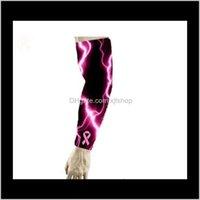 Утечки для ног Краска Вера Любовь Сжатие ARM Рукава Влагоумия Пинка Розовая Лента Осознание Рак молочной железы OJS61 SLZRT