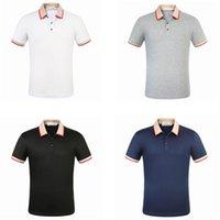 Erkek Tasarımcı T-Shirt Arı Polo Gömlek Moda Marka Yaz Giyim Kısa Kollu Lüks Tişört Yüksek Kaliteli Iş Rahat Tops Tee M-3XL