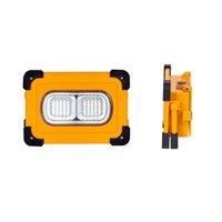 100W 태양 광 / USB 충전식 COB LED 작업 빛 마그네틱 투광 조명 스폿 손전등 캠핑 하이킹 비상 차 수리 - 노란색