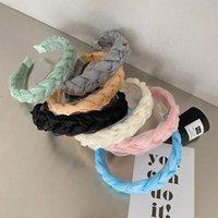 2021 Fashion Mesh hair band Solid Color Braid Headband Hairband Hair Accessories Headwear Sweet Hairband Fairy Headband