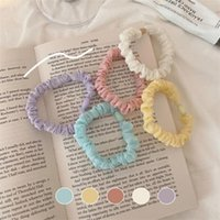 Hair Accessories 2Pcs Sweet Candy Color Scrunchies Solid Cloth Elastic Bands Fashion Headband Women Girl Ponytail Holder